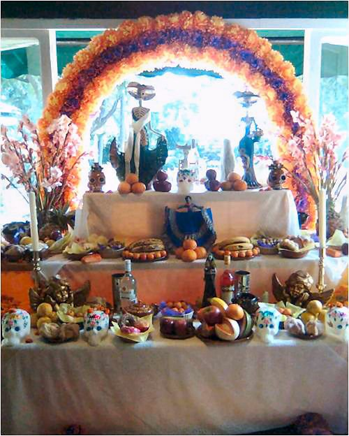 Altar de muertos en Cocoyoc