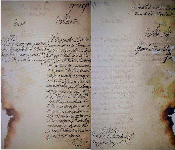 Llegada del bergantín N. S. del Carmen al Puerto de Veracruz