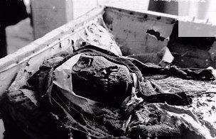 Exhumación de los restos de la duquesa de Alba el 17 de noviembre de 1945
