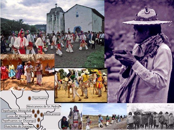 Indígenas de Durango y las provincias limítrofes:Tepehuanos, Mexicaneros, Coras, Huicholes, Rarámuris (2)