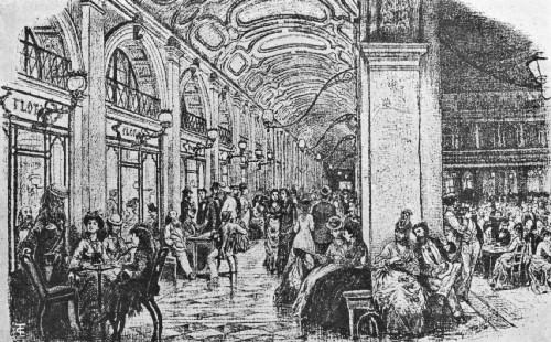Grabado del café Florián de Venecia