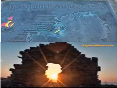 Ruinas de la ermita irlandesa en donde de Cuéllar se quiso refugiar luego del naufragio [7]