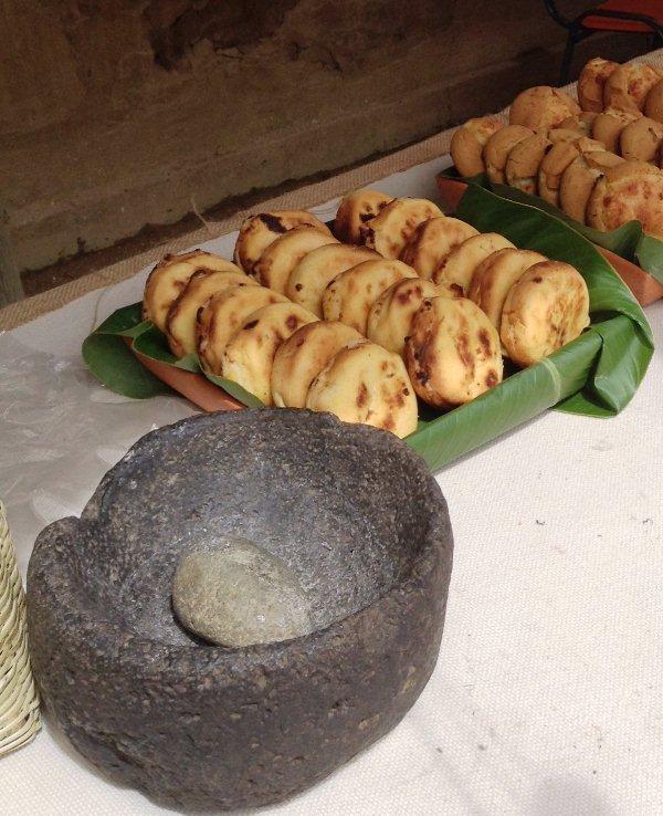 Tunja arepas de maiz en laja
