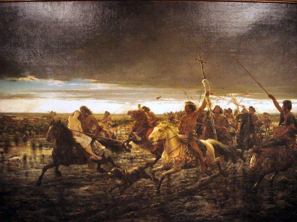 El Malón.Cuadro de pintor Johann Miritz Rugendas. Museo de Neuquén