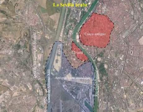 Orografía de la Sevilla árabe