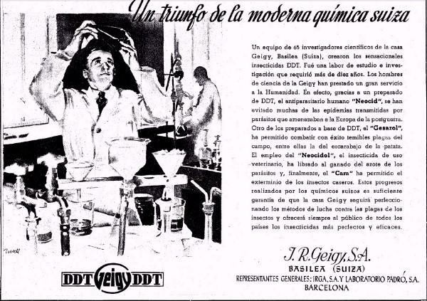Anuncio en La Vanguardia del DDT