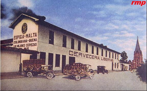 Cervecería Libertad 1929 - Medellín - Dibujo: Cervecería Unión