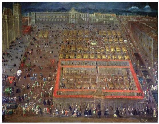 Plaza Mayor de la Ciudad de México en 1695c [1]