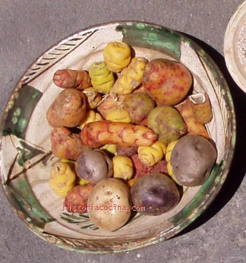 Distintos tipos de patatas. Foto del autor