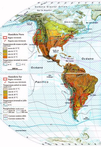 cuales son las franjas climaticas en america? | Yahoo Respuestas